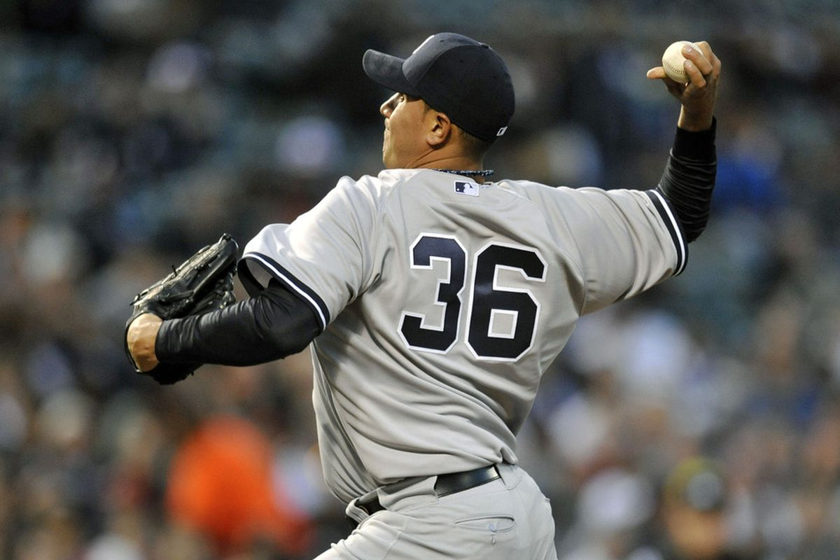 Freddy Garcia pitches Monday night for the New York Yankees. Joy R. Absalon-US PRESSWIRE