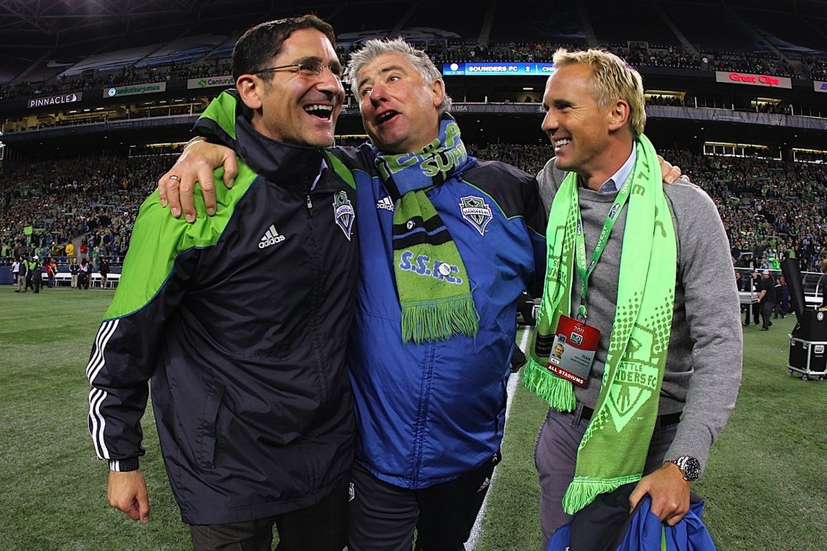Adrian Hanauer, Sigi Schmid and Chris Henderson have all built a team that seems perfectly capable of becoming the first MLS treble winner. (Photo courtesy of SoundersFC.com)