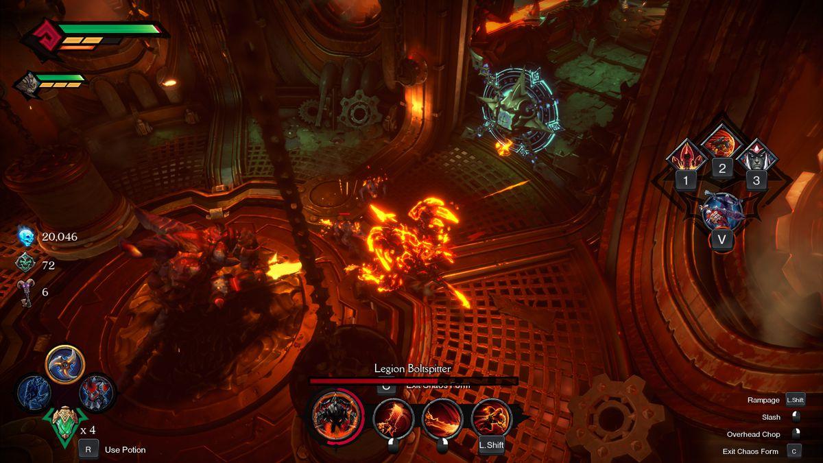 Darksiders Genesis Legion Boltspitter boss fight
