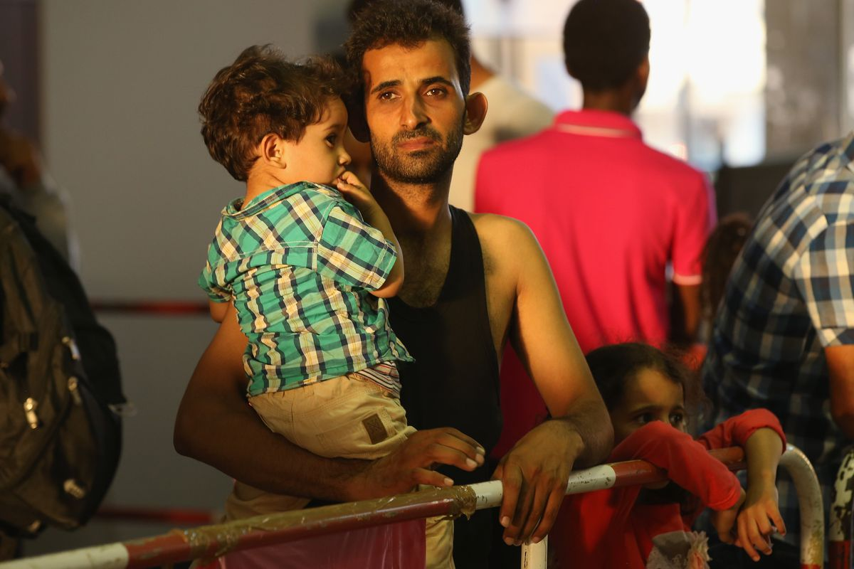 Syrian refugees in Munich, Germany.