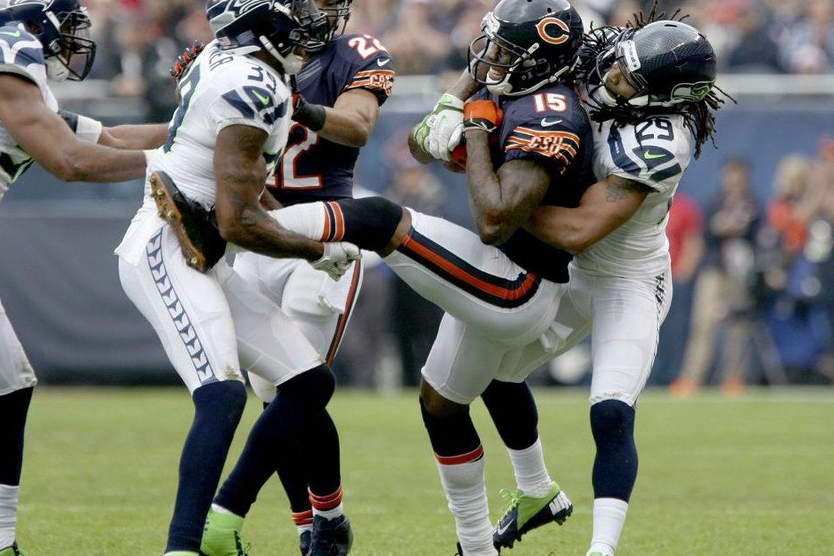 the latest 8e887 a722a Seahawks' Brandon Marshall: Bears 'a dream job for me ...