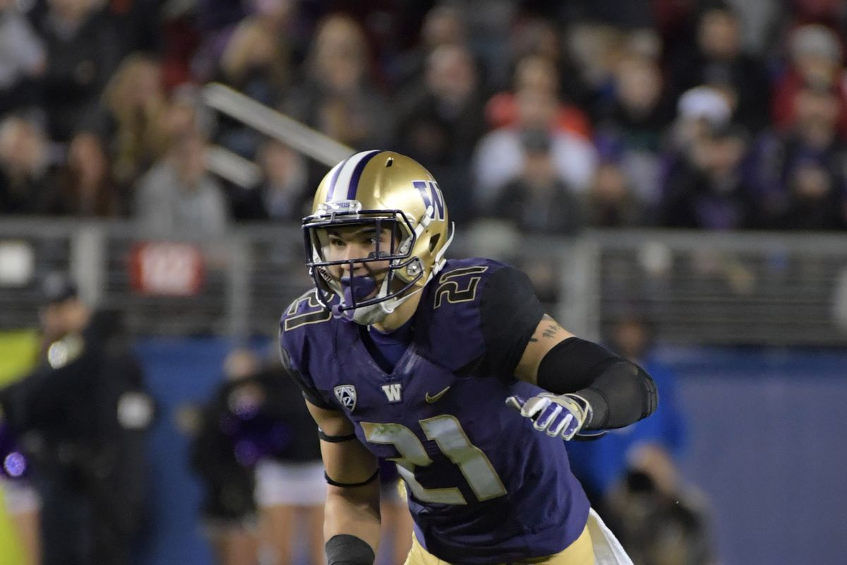 Washington Huskies S Taylor Rapp during the Pac-12 Championship against the Colorado Buffaloes, Dec. 2, 2016.