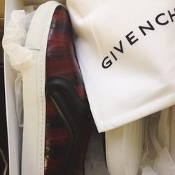 Loving these <b>Givenchy</b> sneakers right now—they are cool and comfortable. I would love to wear heels to work every day, but standing for 12 hours is a killer.