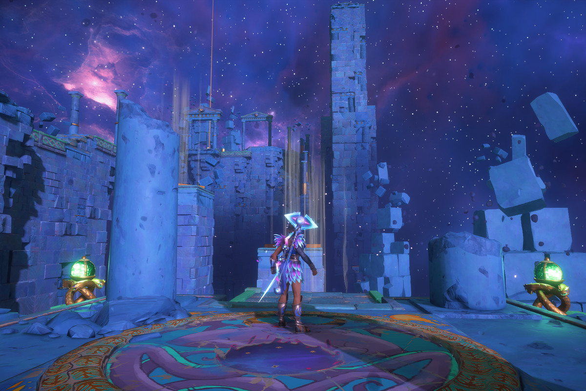 The entrance to the Aiolos's Strength Vault of Tartaros in Immortals Fenyx Rising