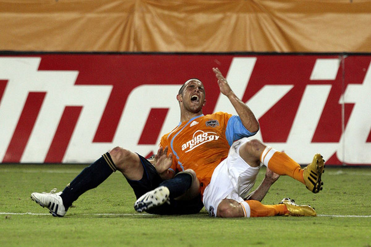 Danny Cruz, one of this season's stand-out players will have to step up even more if the Dynamo want to make the play-offs.