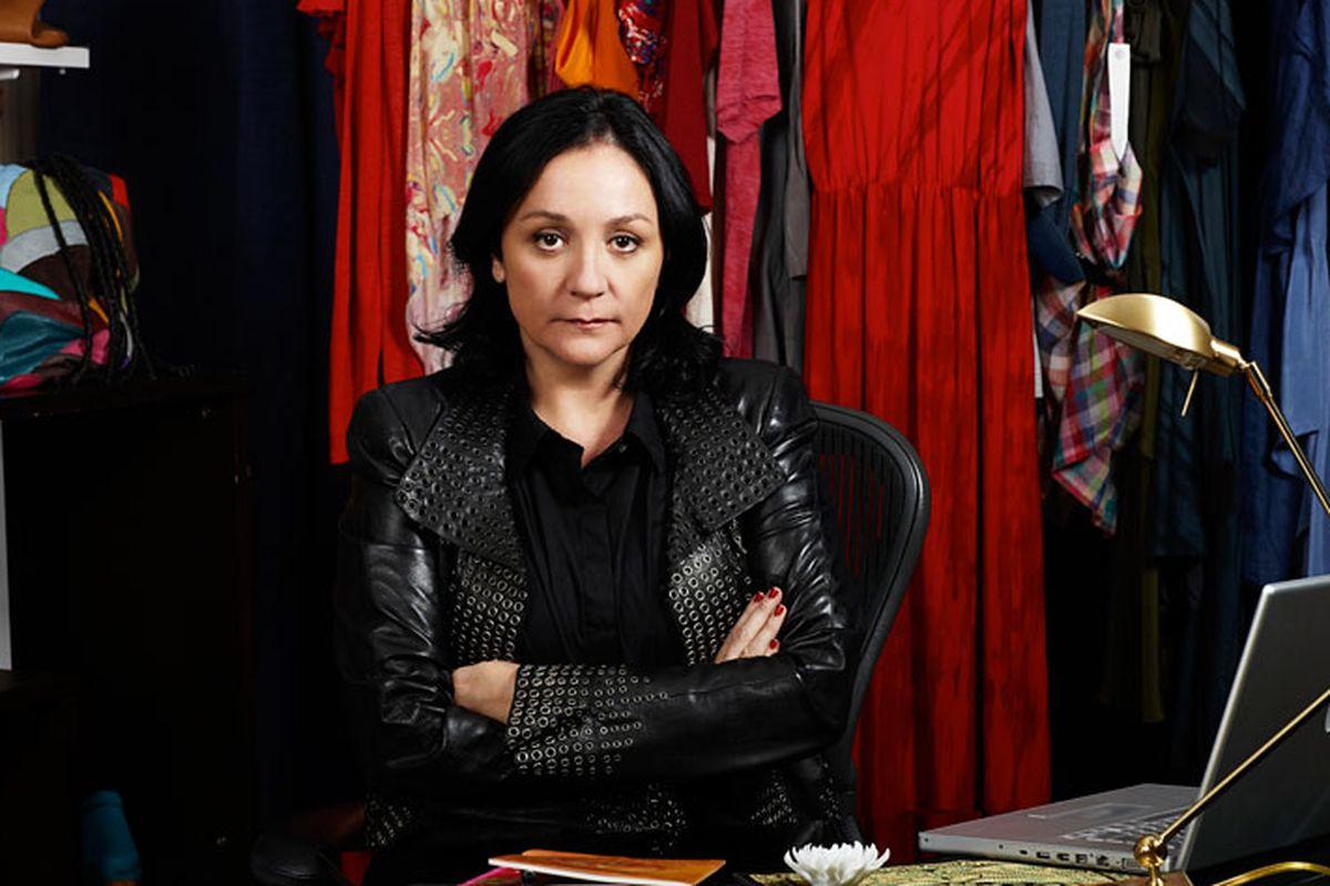 """Kelly Cutrone. Photo via <a href=""""http://www.leveledmag.com/2012/08/kelly-cutrone-real-talk/"""">Leveled Mag</a>."""