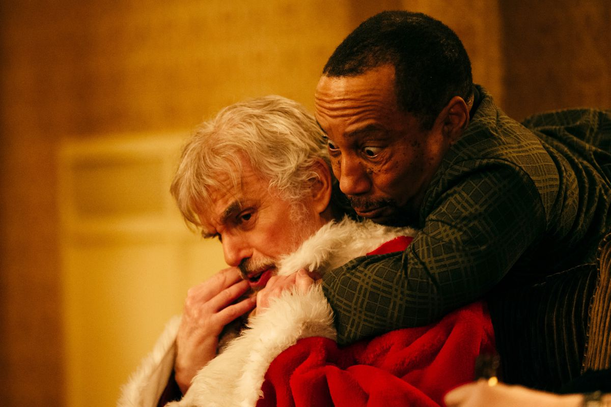 """Billy Bob Thornton (with Tony Cox) stars in """"Bad Santa 2.""""   Broad Green Pictures"""