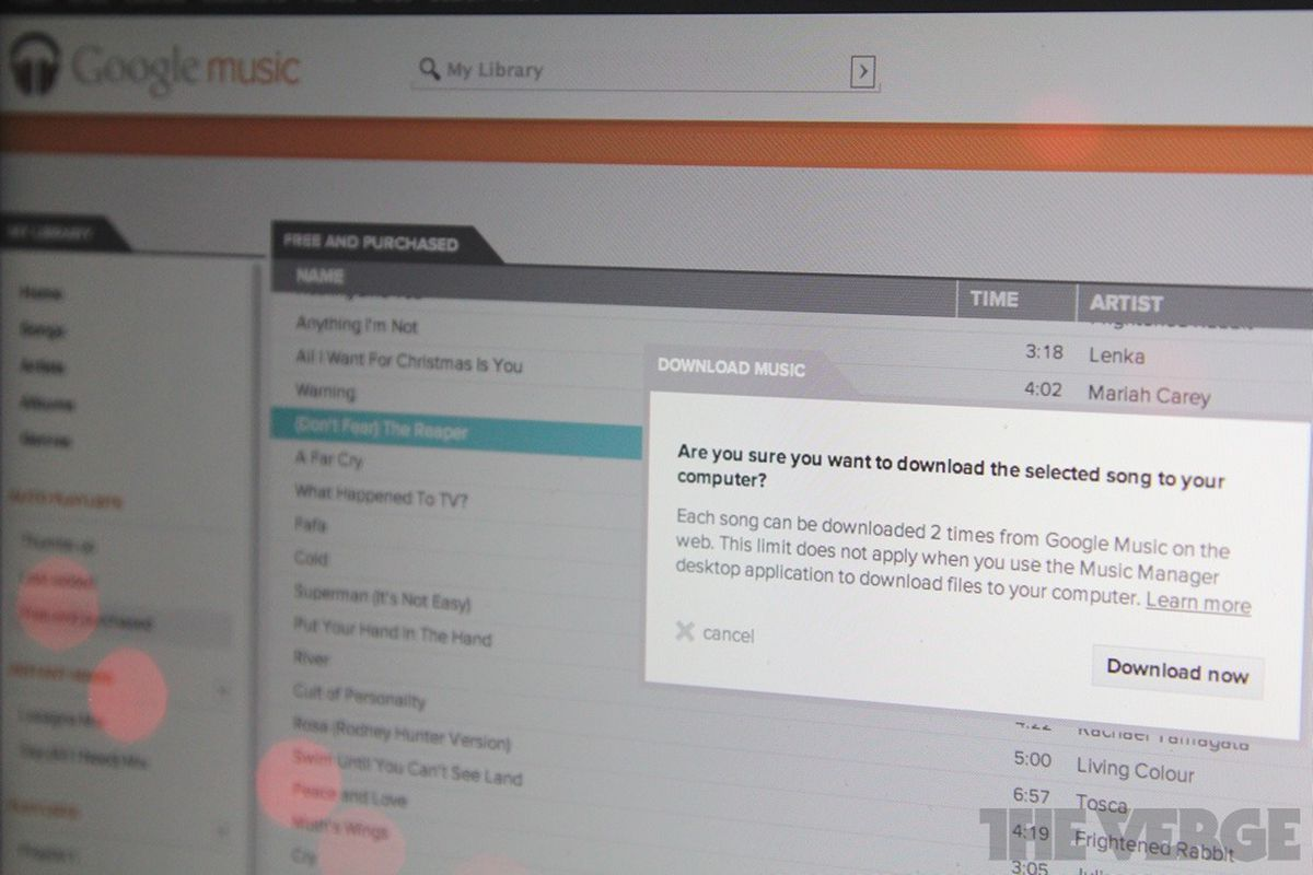 Google Music now lets you download MP3 copies of your stored