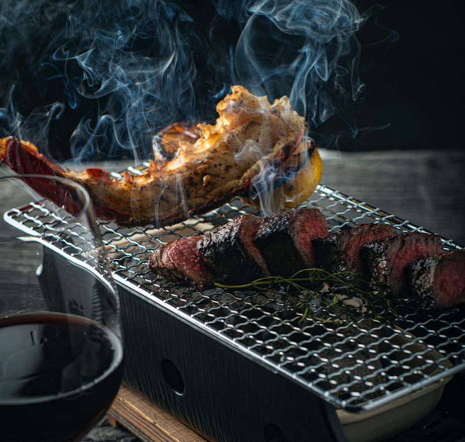 Surf and turf at One Steakhouse