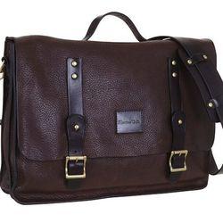 Men's leather messenger bag, $368