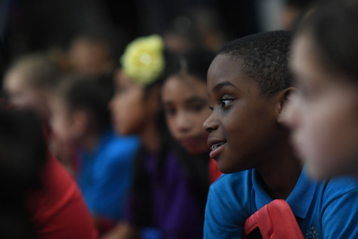 A student at Ashley Elementary School in Denver.