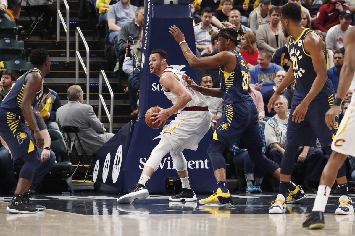 Image result for cavs vs the Pacers larry nance