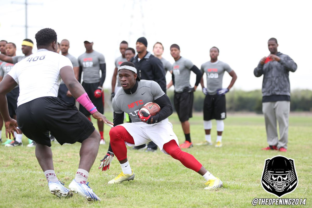 West runs a drill at The Opening 2014