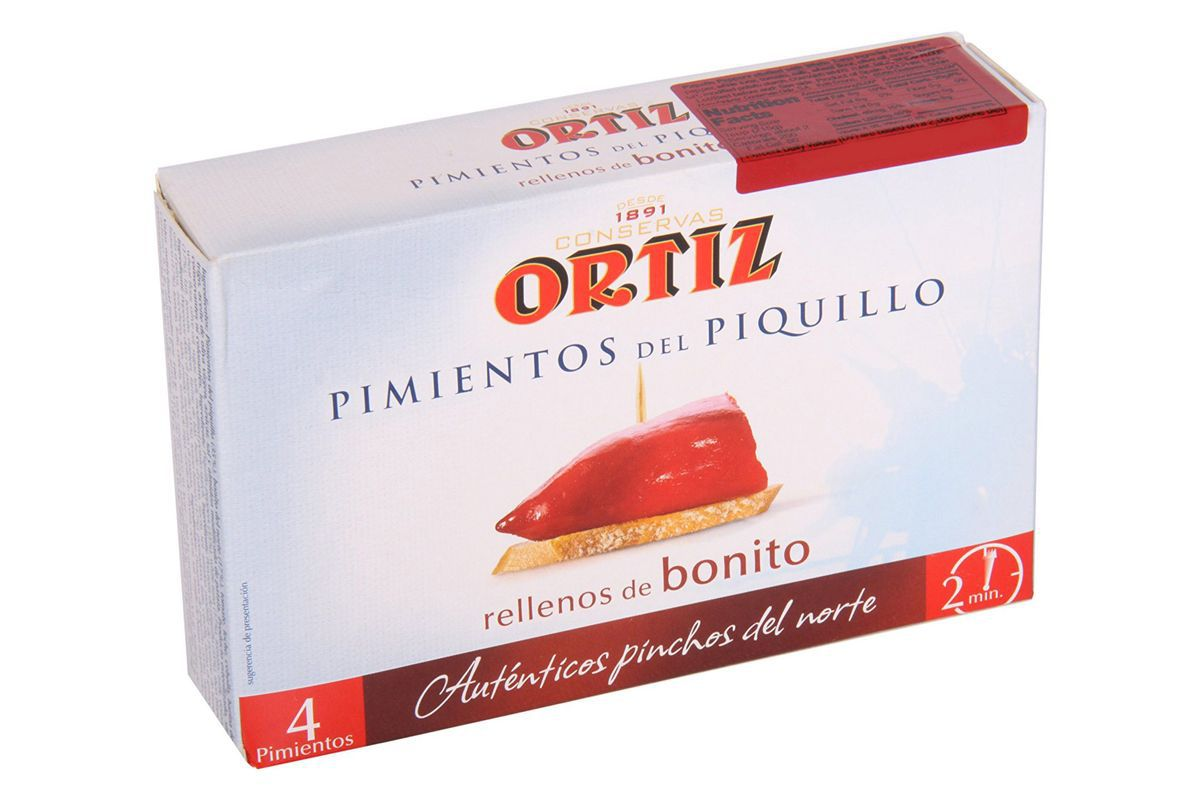 A box of Ortiz Piquillo Peppers Stuffed With White Tuna