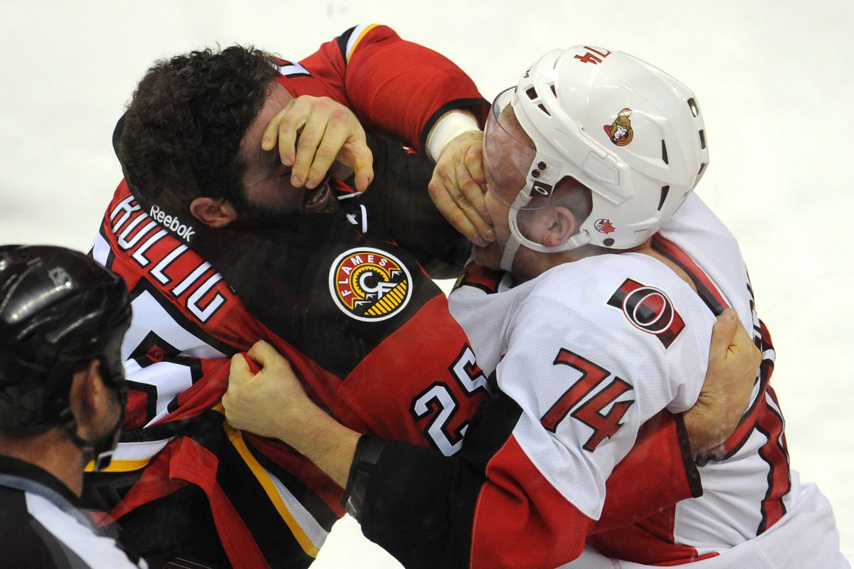 Looks like Chris Neil's eye-gouge move is catching on.