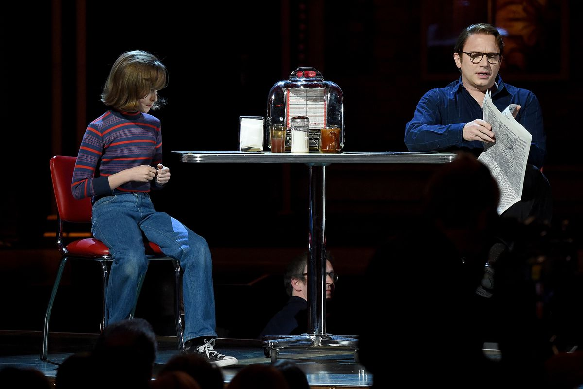 Sydney Lucas and Michael Cerveris star in a scene from the Tony-winning Best Musical Fun Home.