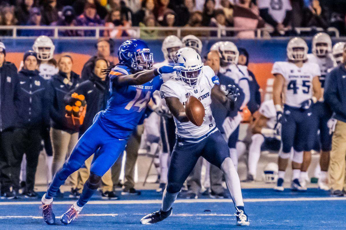 COLLEGE FOOTBALL: NOV 24 Utah State at Boise State