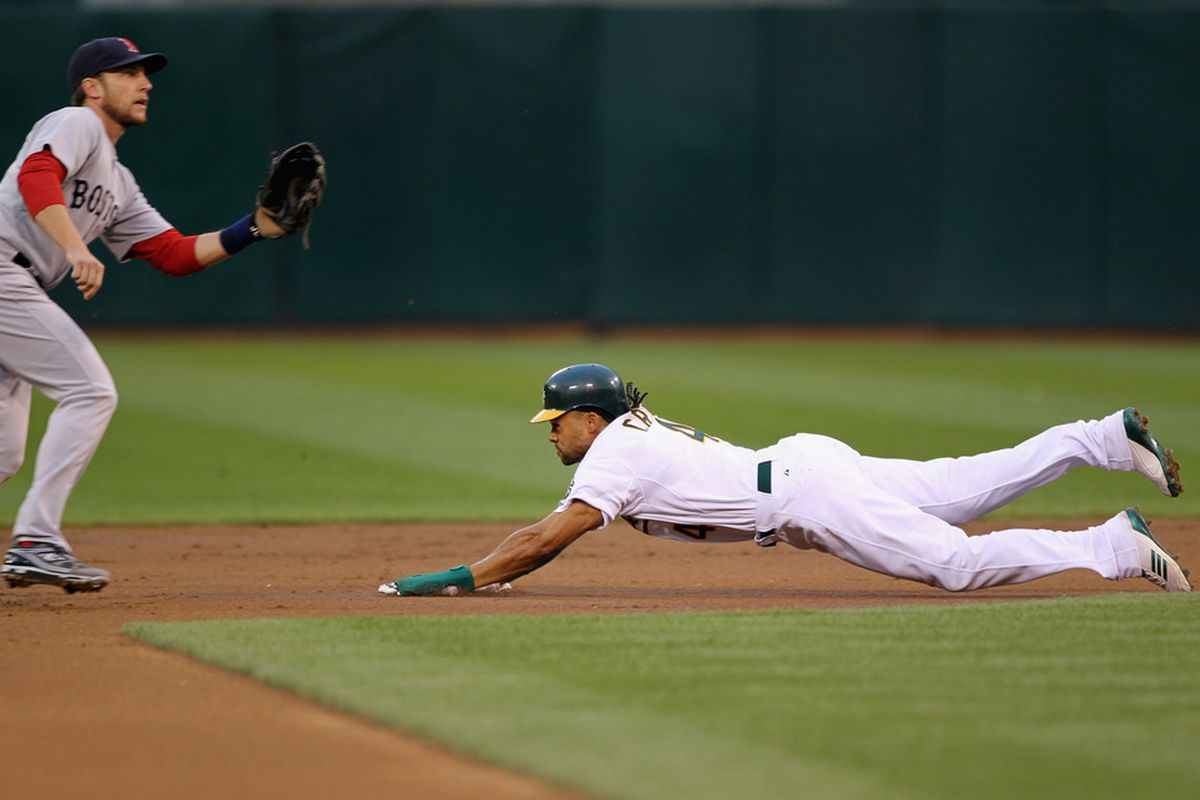 Coco Crisp's stolen base skills have improved as he's reached his 30s.