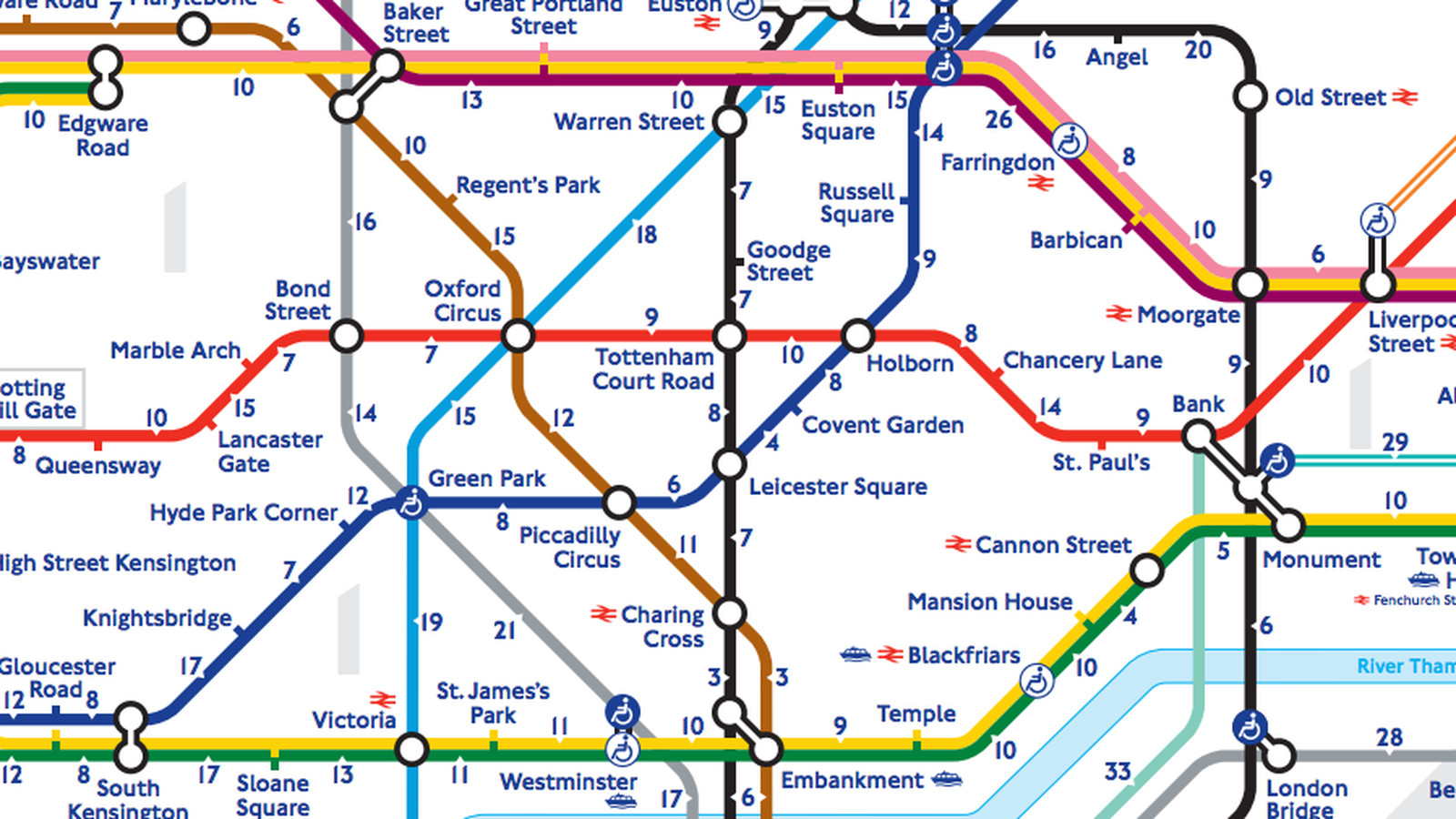 Londons walk The Tube Map Reveals Real Distance