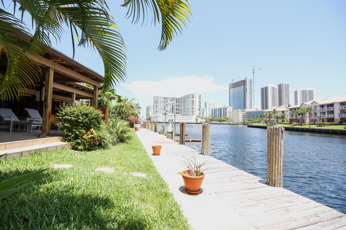 A waterfront townhouse in Hallandale Beach