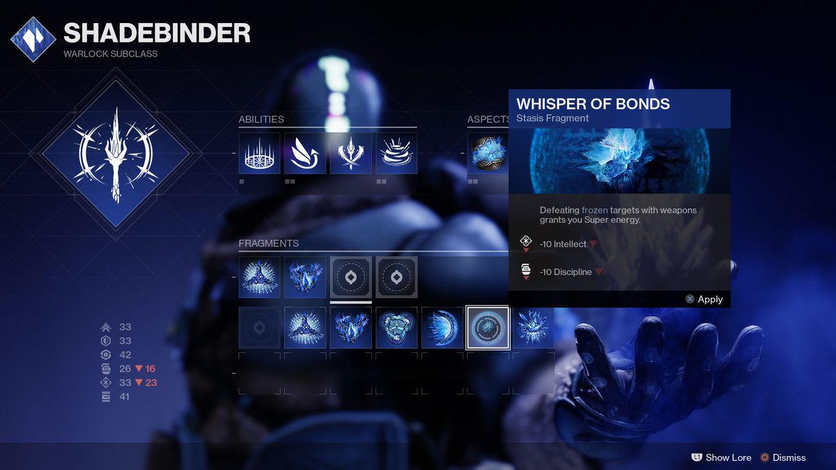 Warlock Shadabinder Whisper of Bonds Fragment