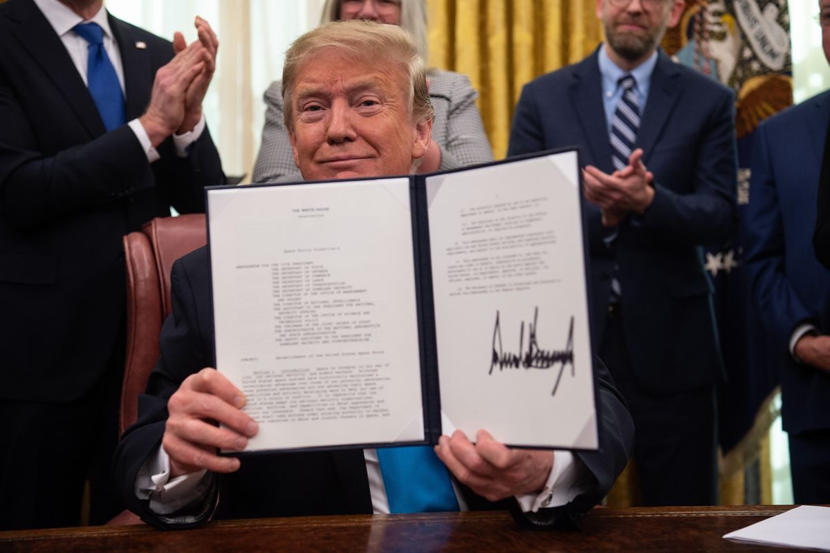 Trump signs new directive calling on Space Force to be part of the