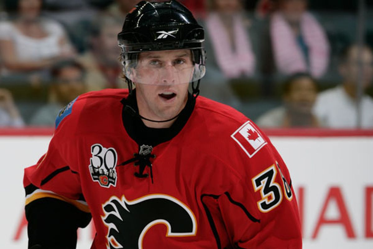 Jason Jaffray in one of three games with Calgary.