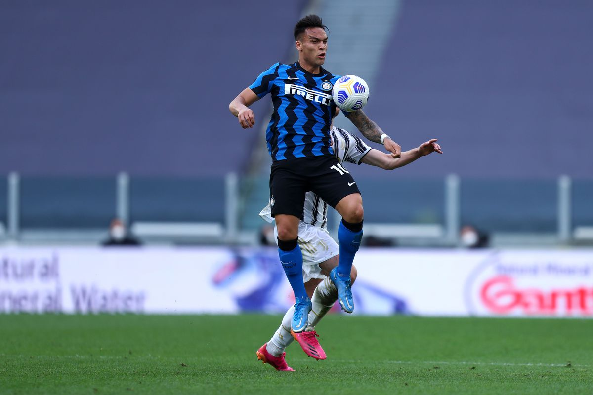 Lautaro Martinez of Fc Internazionale in action during the...