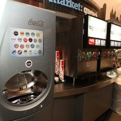 Choose from 130 different types of soda
