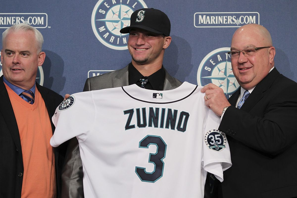 After signing his draft deal, Mike Zunino was so rich he could afford to hire old guys to carry his clothes around for him.