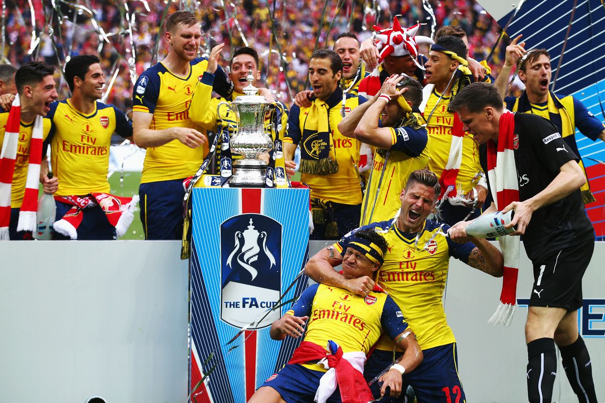 PICTURED: a number of Arsenal players