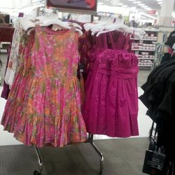 The Luella dresses (right) already looks like they've been wadded up at the bottom of a closet.