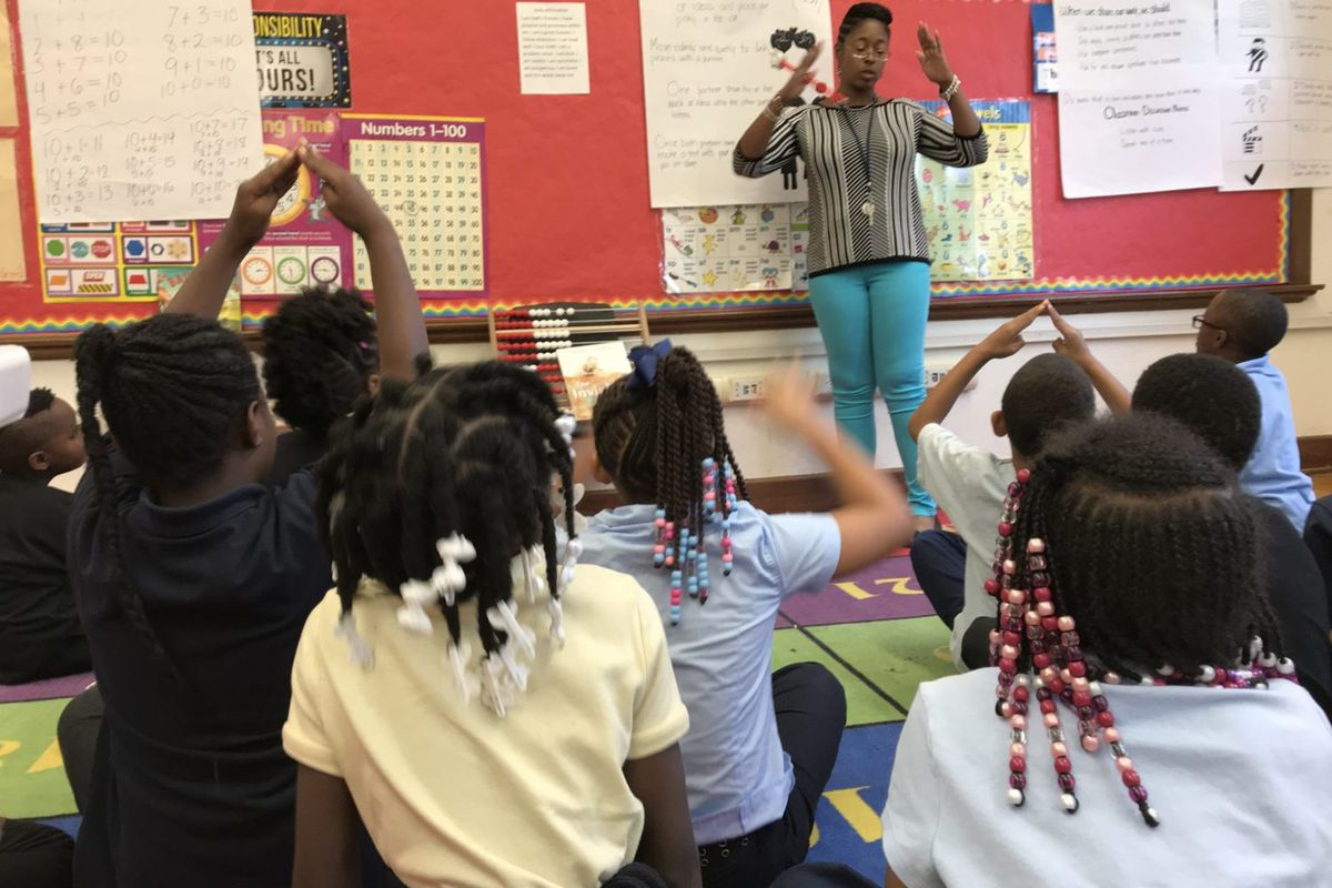"""Lydia Nickleberry, a second-grade teacher at Detroit's Bethune Elementary-Middle School said teachers should be able to quickly access the records of new students. """"Whatever teacher gets that child should be able to pull up what they did,"""" she said. """"They shouldn't have to search that down."""""""