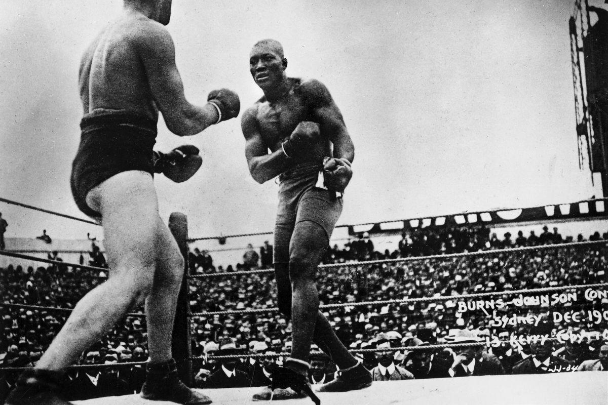Jack Johnson, the first black heavyweight champion of the world.