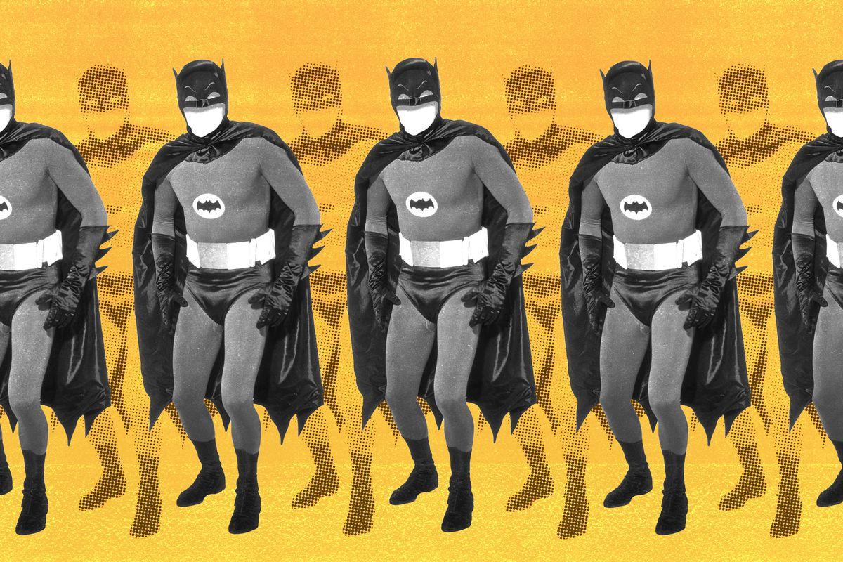 A row of Batmans