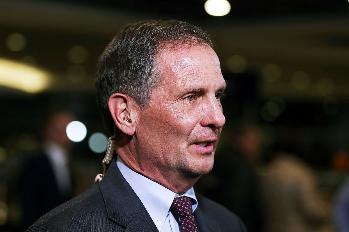 FILE - Rep. Chris Stewart, R-Utah, is interviewed during the Utah Republican election night party at the Vivint Smart Home Arena in Salt Lake City on Tuesday, Nov. 6, 2018.