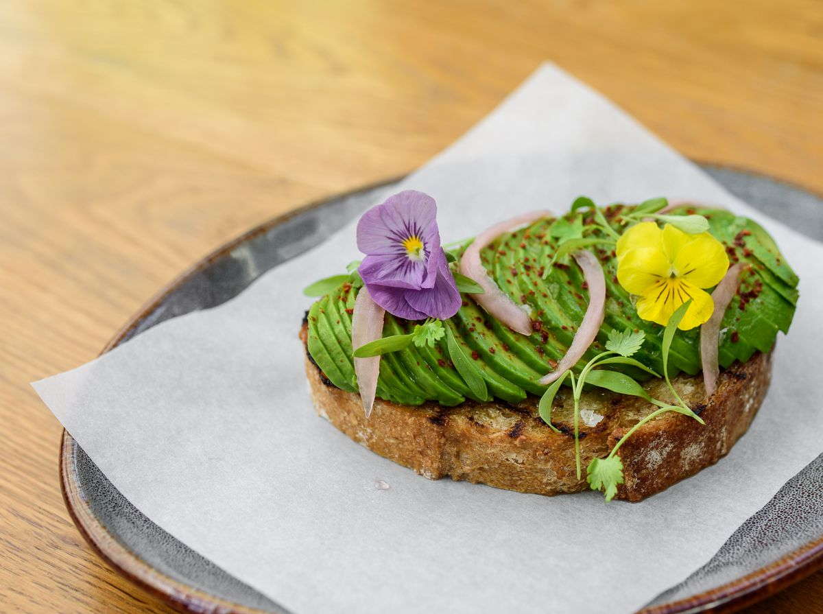 Avocado toast from Baker's Daughter