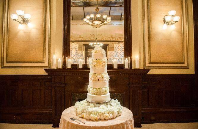 A wedding cake from Driskill's 1886 Cafe & Bakery