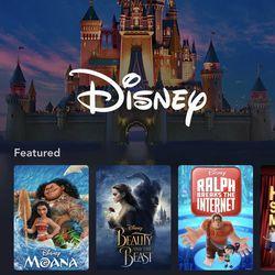<em>The Disney page in the app.</em>