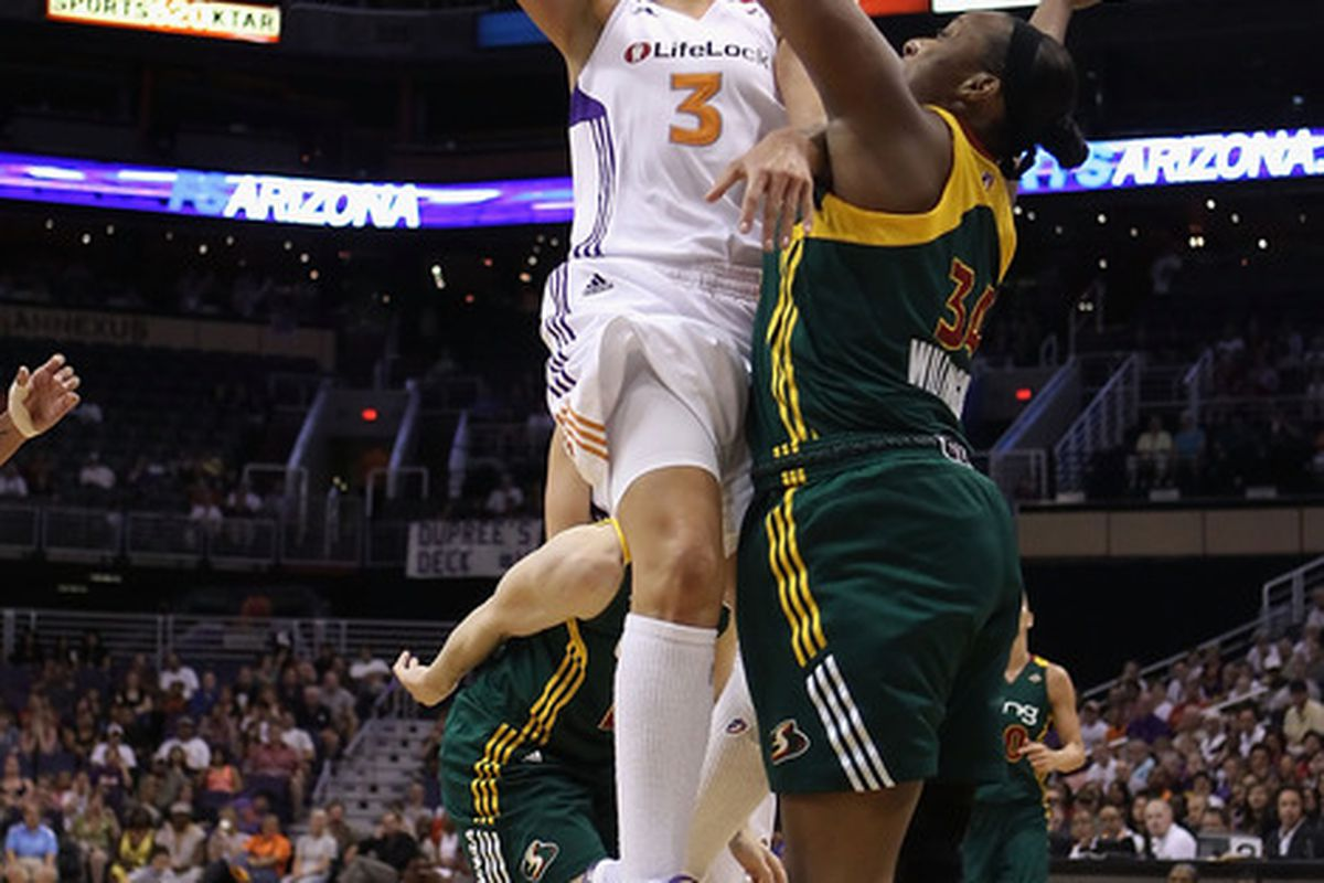 It's hard to ever count out a team with Diana Taurasi on it, but do the Phoenix Mercury have enough to make another playoff run without Penny Taylor? (Photo by Christian Petersen/Getty Images)