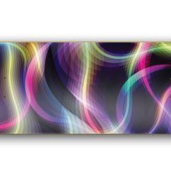 "Custom-made skateboard by <a href=""http://www.karimrashid.com/""target=""_blank"">Karim Rashid</a>. The artist collaborated with skateboard company Blank Plank to create Fluke, a unique deck that unites street culture with art via ""bright colors radiating fr"