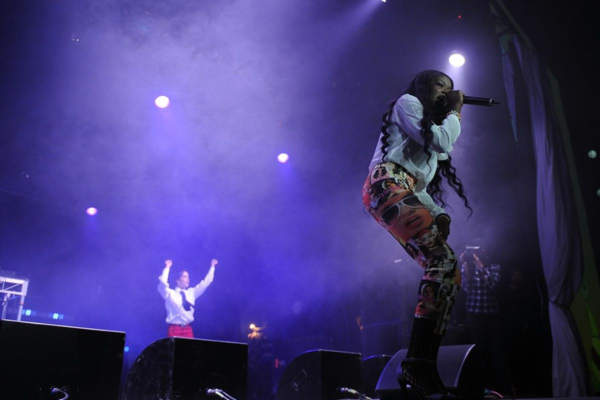 Azealia Banks performing at Splendour in the Grass, via Getty