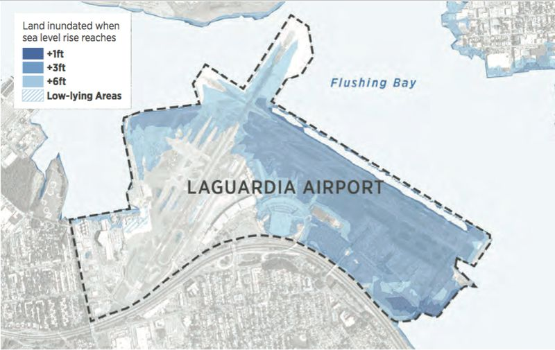 Think LaGuardia Airport Is Bad Now Wait Until Its Underwater - Laguardia airport map