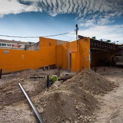 Construction at Park on Fremont.