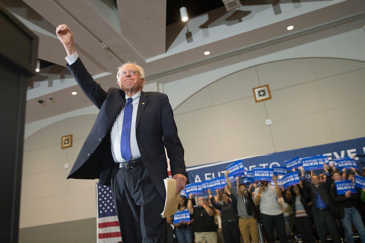 Bernie Sanders in Wisconsin on Monday.