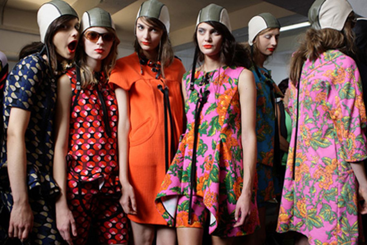 """In bloom: floral looks from Marni. Image via <a href=""""http://www.graziadaily.co.uk/fashion/archive/2010/11/05/marni-does-vintage.htm"""">Grazia</a>."""
