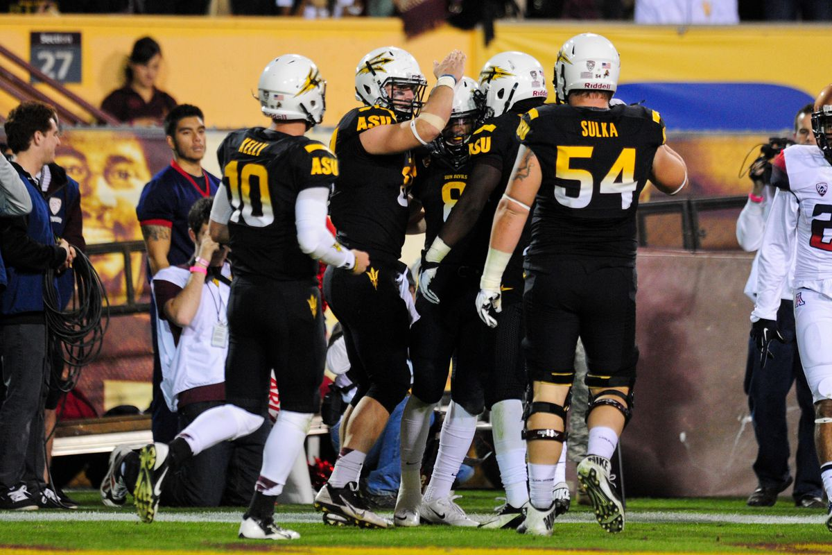 Uofa Football Score >> Arizona Vs Arizona State 2013 Results Sun Devils Dominate