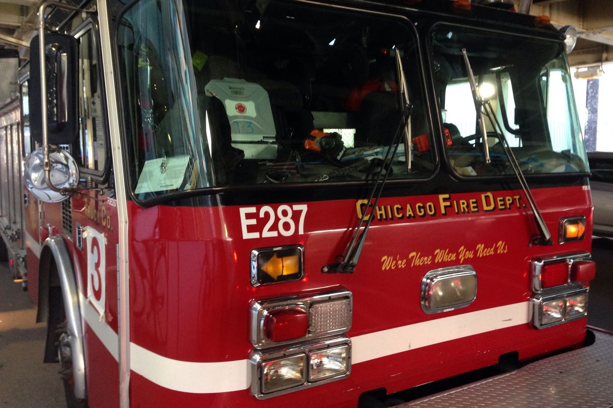 Five people were injured Nov. 24, 2019, when a fire truck hit a vehicle in Chatham on the South Side.