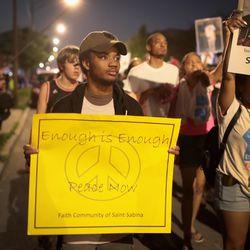 The march through Auburn-Gresham to demand an end to gun violence. | Scott Olson/Getty Images