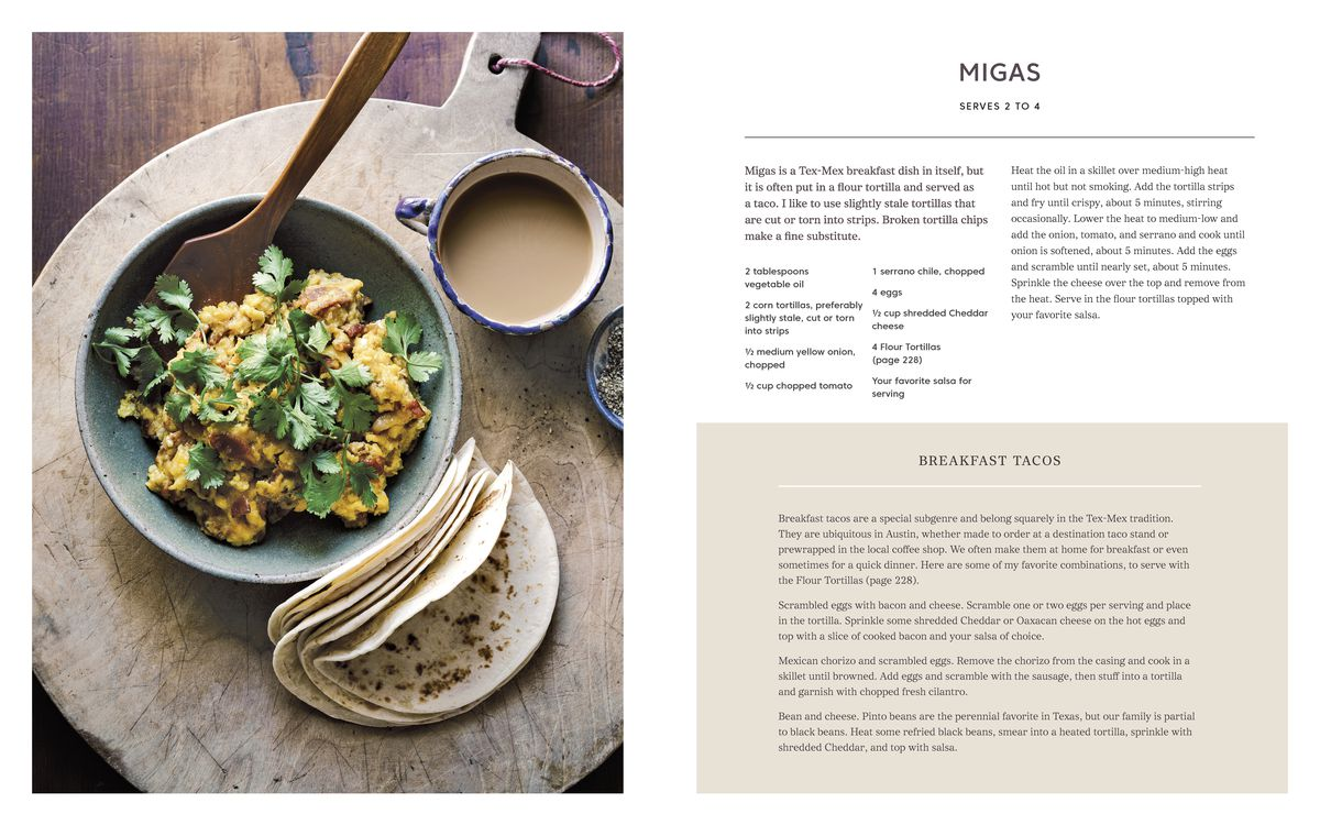A migas recipe in Bread on the Table